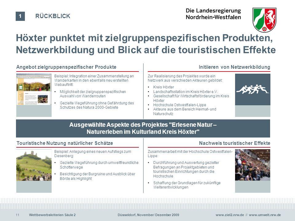 www.ziel2.nrw.de // www.umwelt.nrw.de11Wettbewerbskriterien Säule 2 Düsseldorf, November/ Dezember 2009 Angebot zielgruppenspezifischer ProdukteInitii