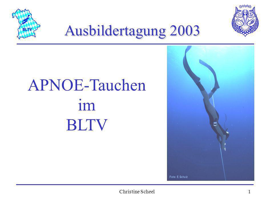 Christine Scheel2 BLTV APNOESEITEN BLTV-Vereine mit Apnoetraining im Internet Berichte über Apnoekurse BLTV Apnoe Infos unter www.bltv.org