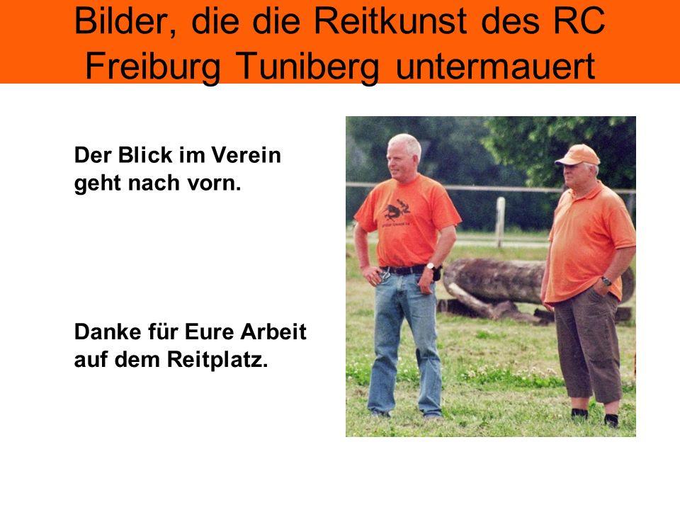 Bilder, die die Reitkunst des RC Freiburg Tuniberg untermauert Der Blick im Verein geht nach vorn.