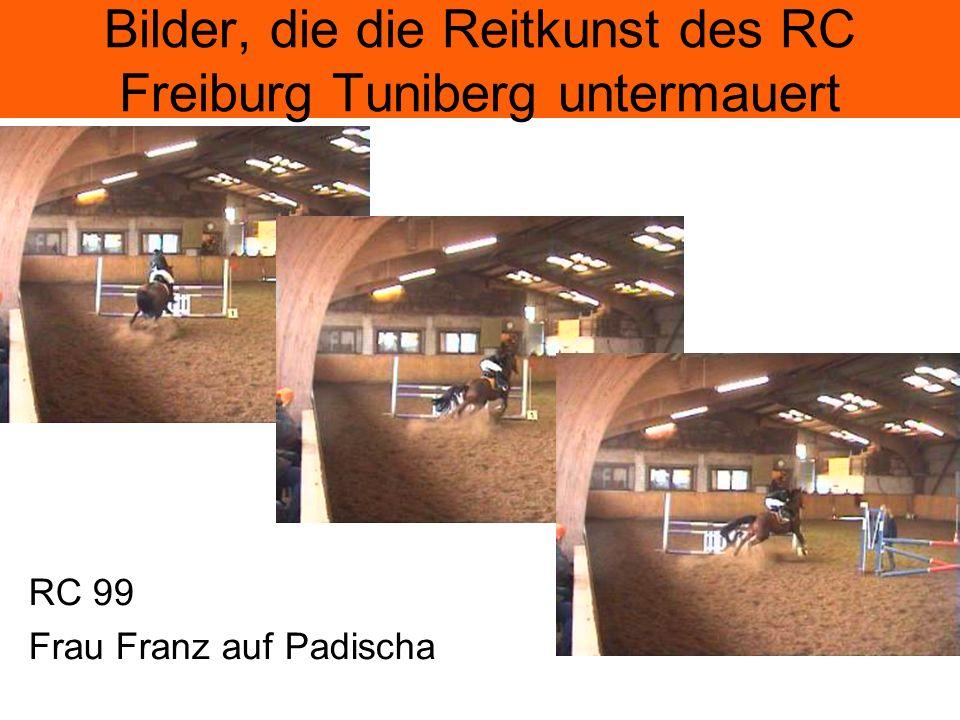 Bilder, die die Reitkunst des RC Freiburg Tuniberg untermauert RC 99 Frau Franz auf Padischa