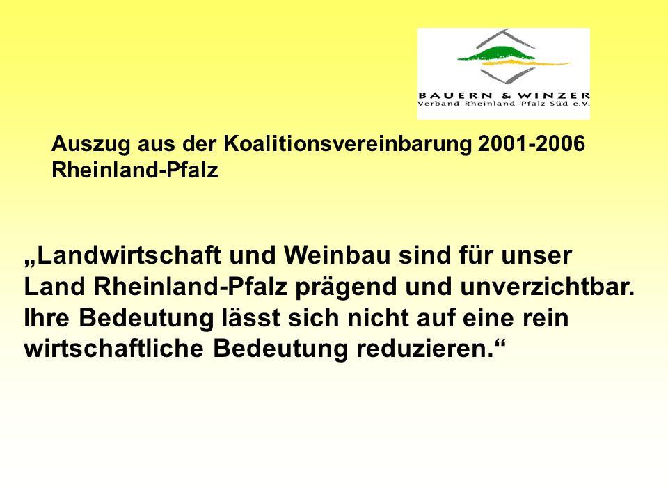 Landwirtschaft und Weinbau sind für unser Land Rheinland-Pfalz prägend und unverzichtbar.