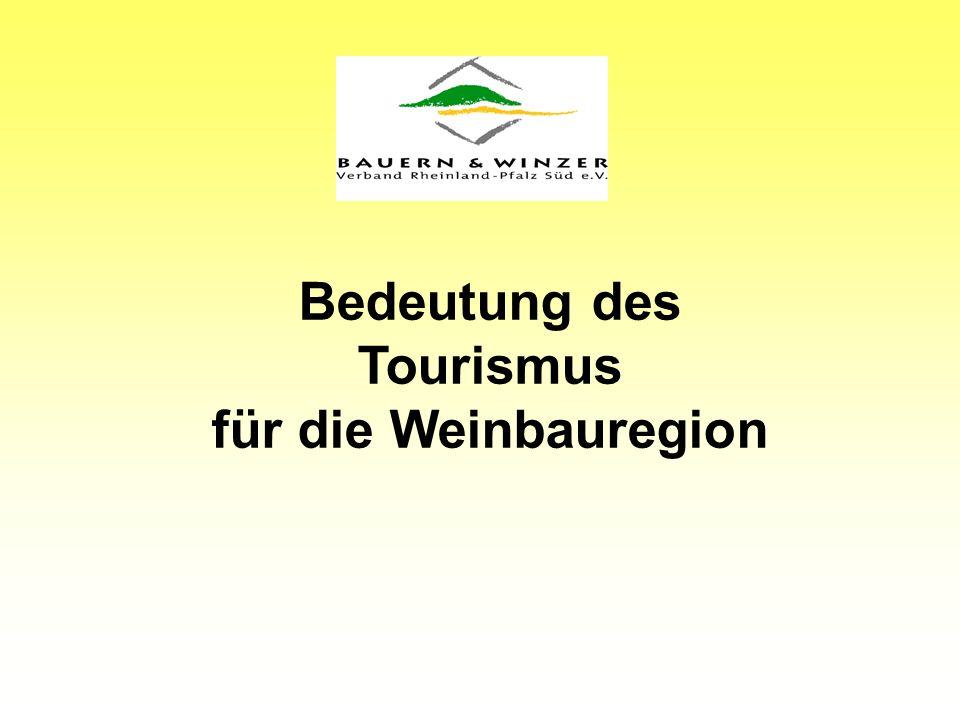 Bedeutung des Tourismus für die Weinbauregion