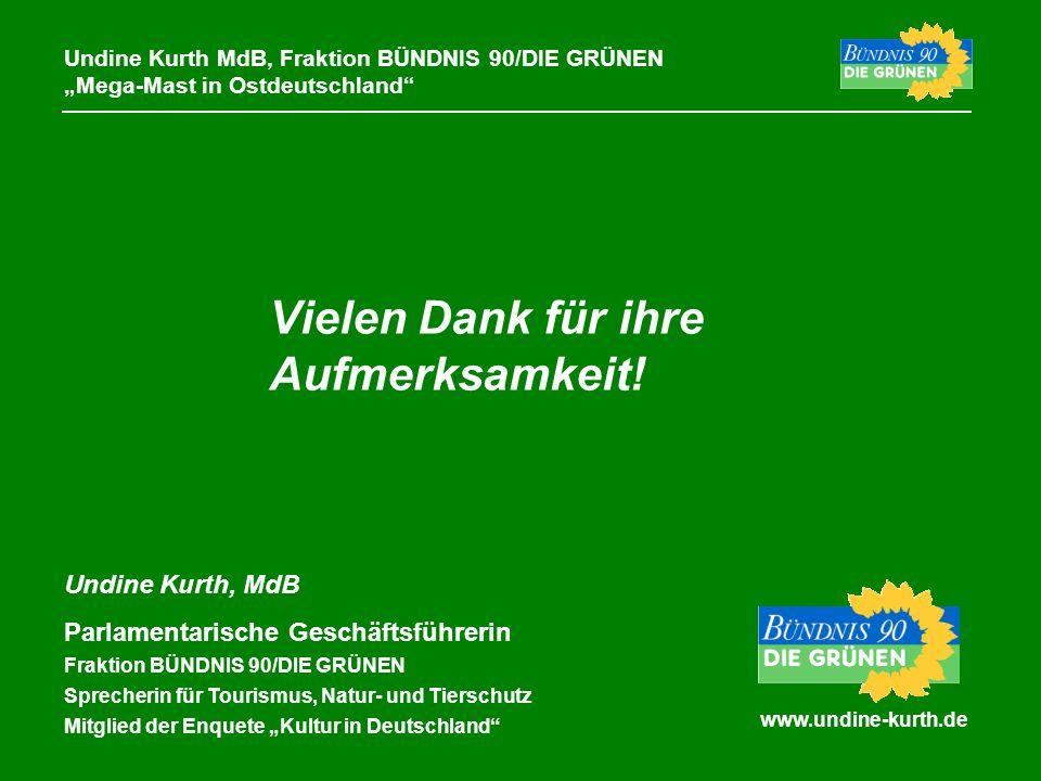 www.undine-kurth.de Undine Kurth MdB, Fraktion BÜNDNIS 90/DIE GRÜNEN Mega-Mast in Ostdeutschland Undine Kurth, MdB Parlamentarische Geschäftsführerin
