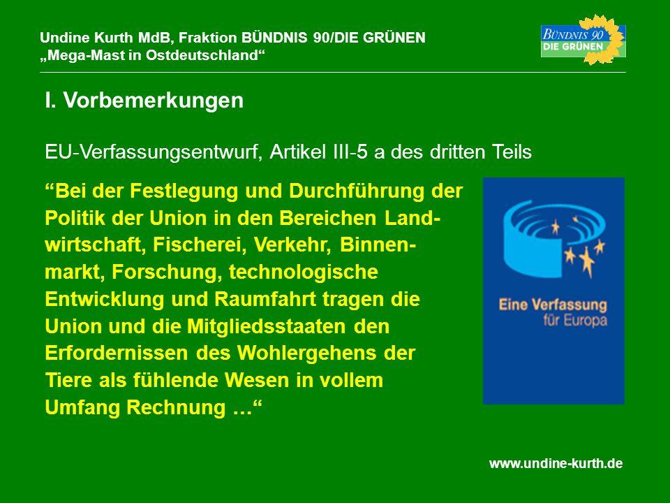 www.undine-kurth.de I. Vorbemerkungen Undine Kurth MdB, Fraktion BÜNDNIS 90/DIE GRÜNEN Mega-Mast in Ostdeutschland Bei der Festlegung und Durchführung