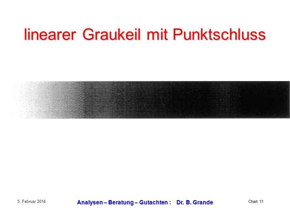 Chart 11 5. Februar 2014 Analysen – Beratung – Gutachten : Dr. B. Grande linearer Graukeil mit Punktschluss