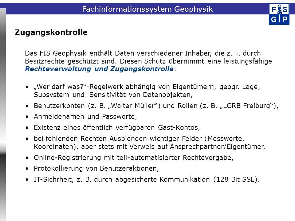Fachinformationssystem Geophysik Aktueller Datenbestand VerfahrenAktueller Datenbankinhalt Bohrlochgeophysikca.