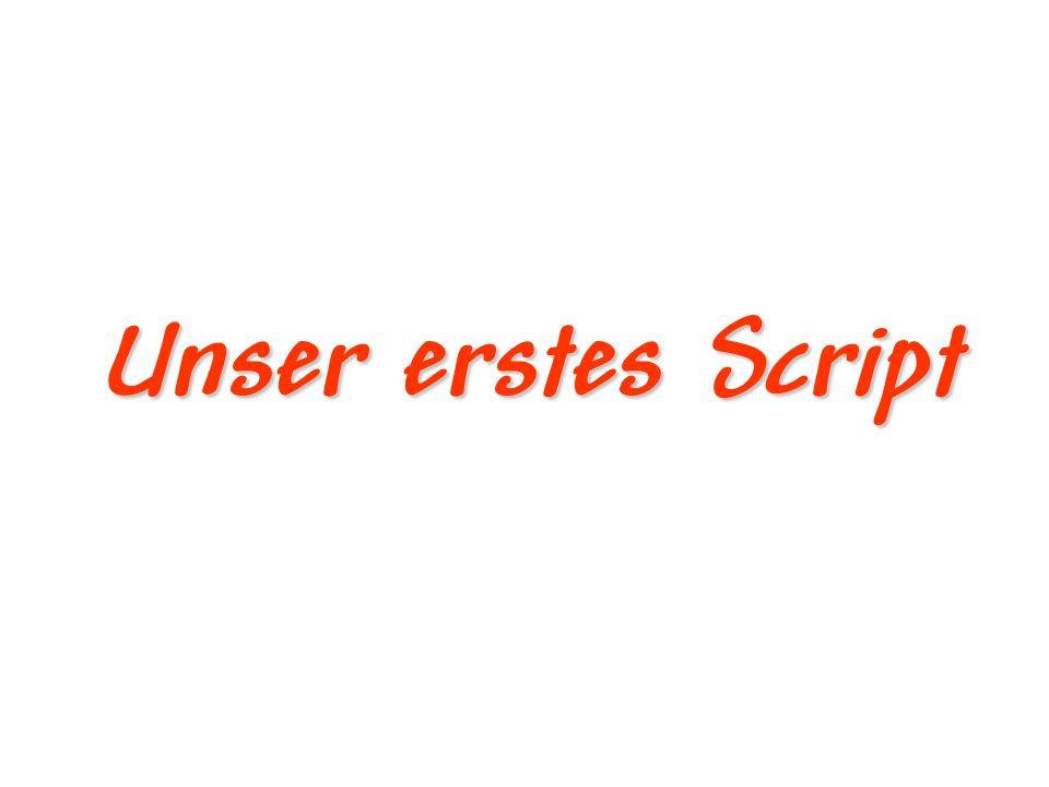 Was brauchen wir.Eine Texteditor z.B. Notepad oder VI Einen Webserver z.B.