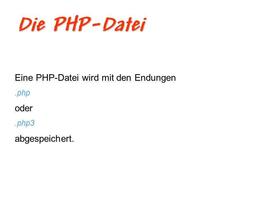 PHP-Script Ein PHP-Script sieht so aus: <?php print( Hallo Welt! ); ?> Ergebnis: Hallo Welt!