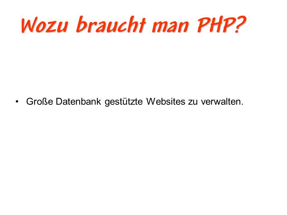 Wie entstand PHP.