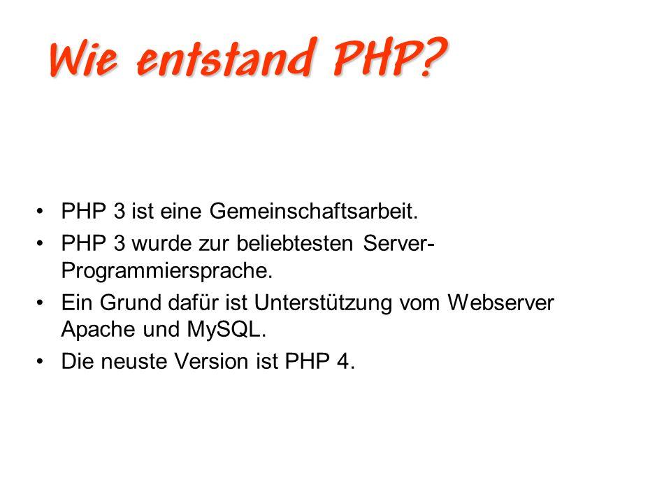 Vorteil von PHP.Entwicklungsprozess von PHP oft bedeutend schneller.