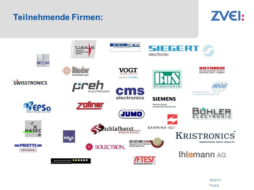 05/02/14 Folie 6 Teilnehmende Firmen: