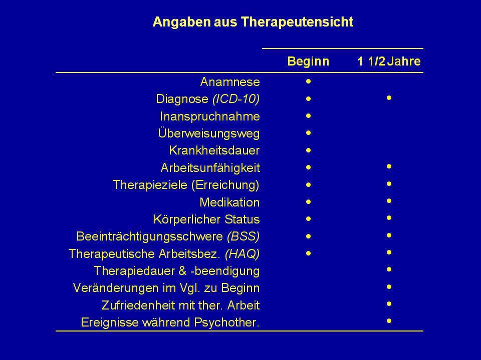 Angaben aus Therapeutensicht