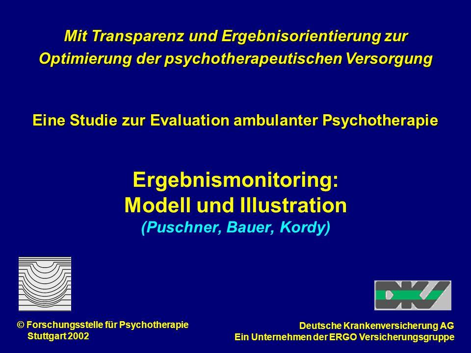 Ergebnismonitoring: Modell und Illustration (Puschner, Bauer, Kordy) Mit Transparenz und Ergebnisorientierung zur Optimierung der psychotherapeutische