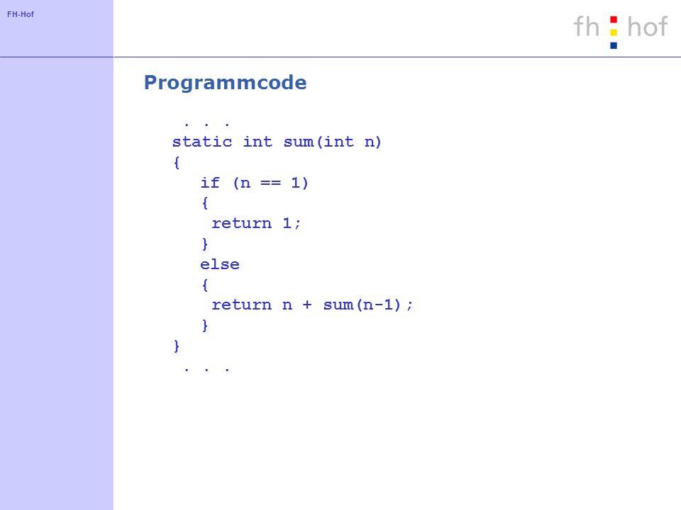 FH-Hof Programmcode...