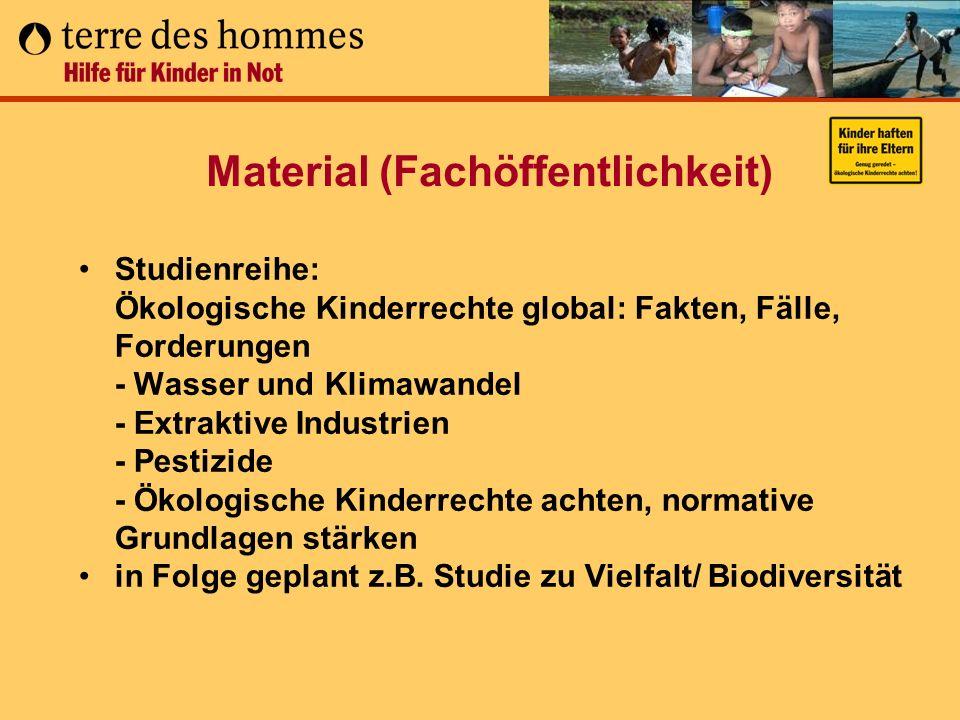 Material (Fachöffentlichkeit) Studienreihe: Ökologische Kinderrechte global: Fakten, Fälle, Forderungen - Wasser und Klimawandel - Extraktive Industri