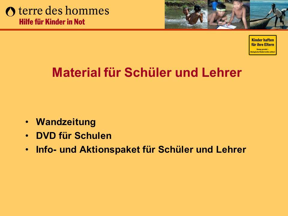 Material für Schüler und Lehrer Wandzeitung DVD für Schulen Info- und Aktionspaket für Schüler und Lehrer