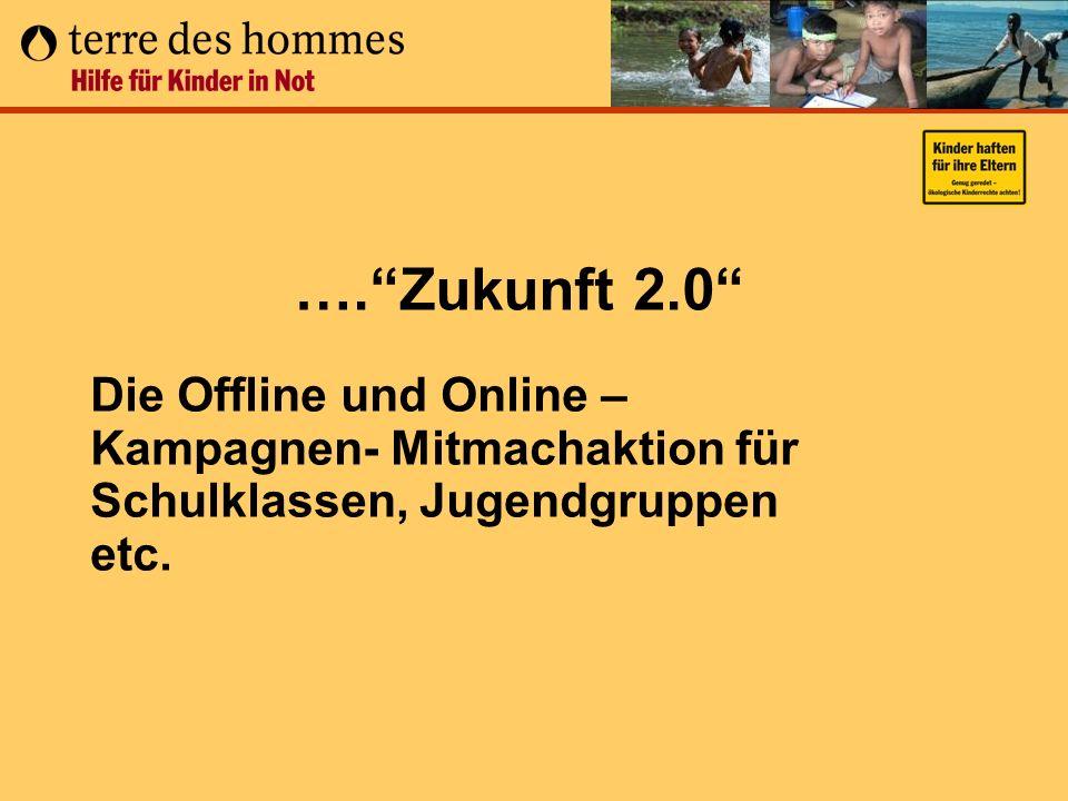 ….Zukunft 2.0 Die Offline und Online – Kampagnen- Mitmachaktion für Schulklassen, Jugendgruppen etc.