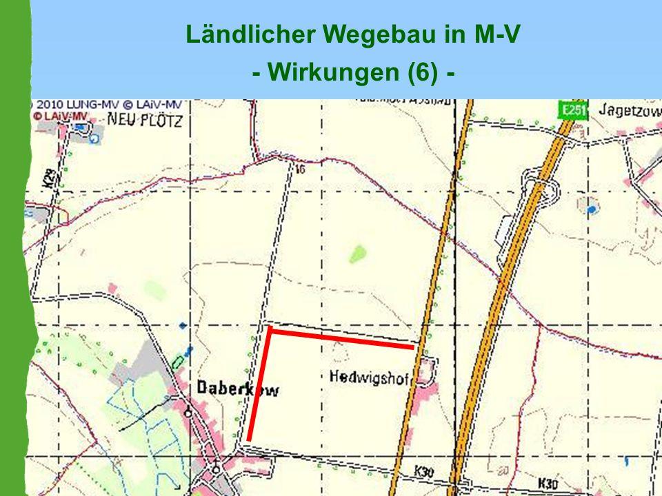 Ländlicher Wegebau in M-V - Wirkungen (6) -