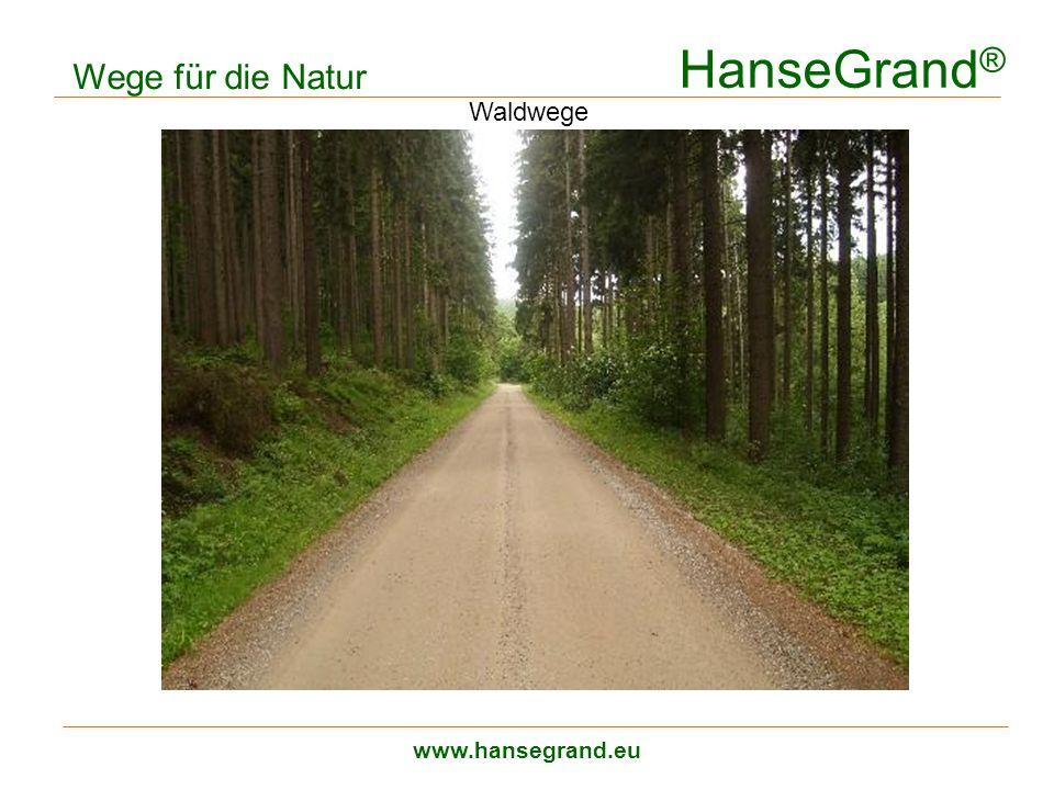 HanseGrand ® www.hansegrand.eu Wege für die Natur Waldwege