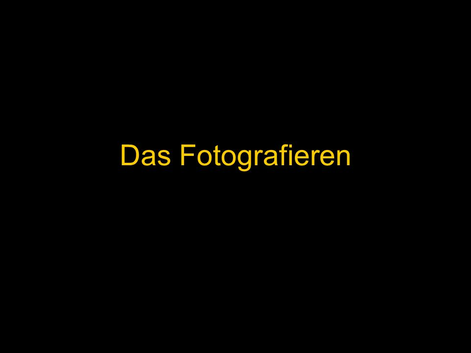 Das Fotografieren