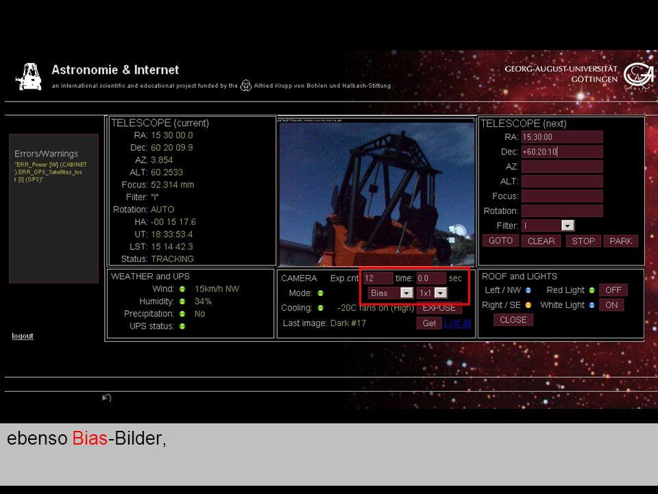 Teleskop 8 ebenso Bias-Bilder,