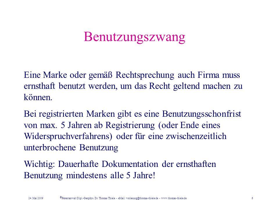 Firma & Firmenrechte –Rechte aus Geschäftsbezeichnungen durch seit dem 1. Juli 1998 bestehen allgemeine Freiheiten der Bezeichnung, wobei auch Phantas
