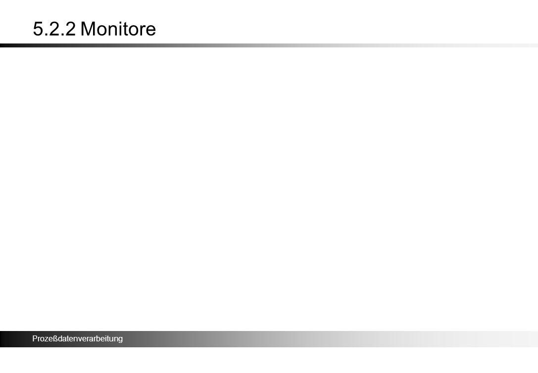 Prozeßdatenverarbeitung 5.2.2 Monitore