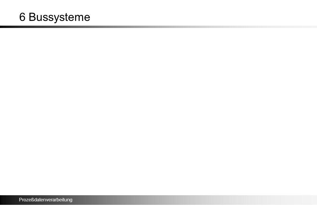 Prozeßdatenverarbeitung 6 Bussysteme