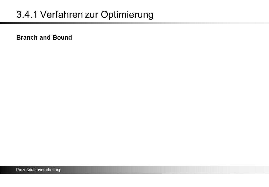 Prozeßdatenverarbeitung 3.4.1 Verfahren zur Optimierung Branch and Bound