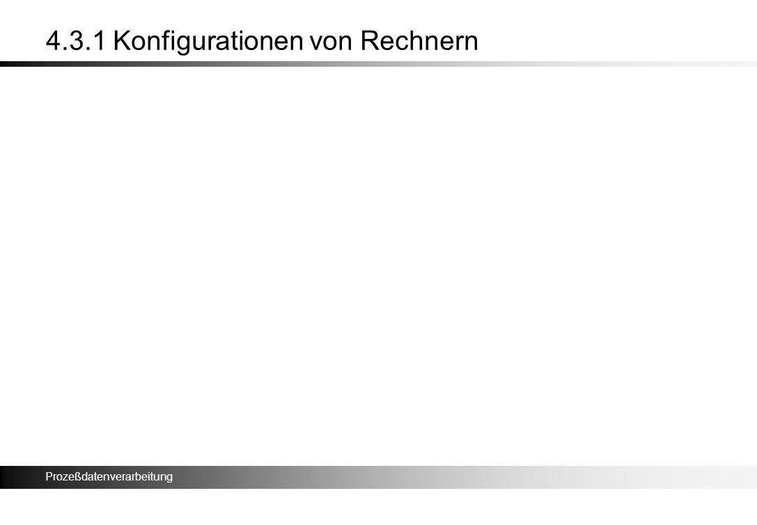 Prozeßdatenverarbeitung 4.3.1 Konfigurationen von Rechnern