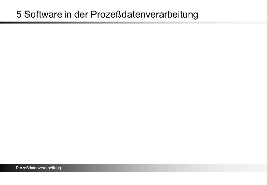 Prozeßdatenverarbeitung 5 Software in der Prozeßdatenverarbeitung