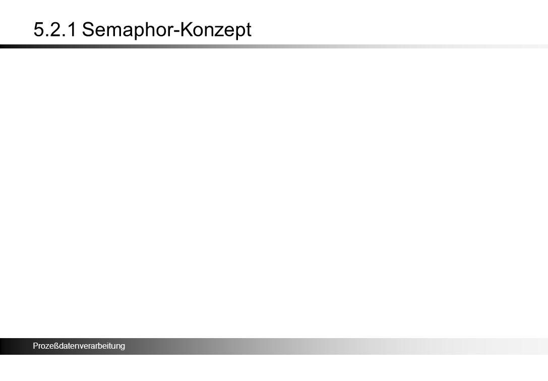 Prozeßdatenverarbeitung 5.2.1 Semaphor-Konzept