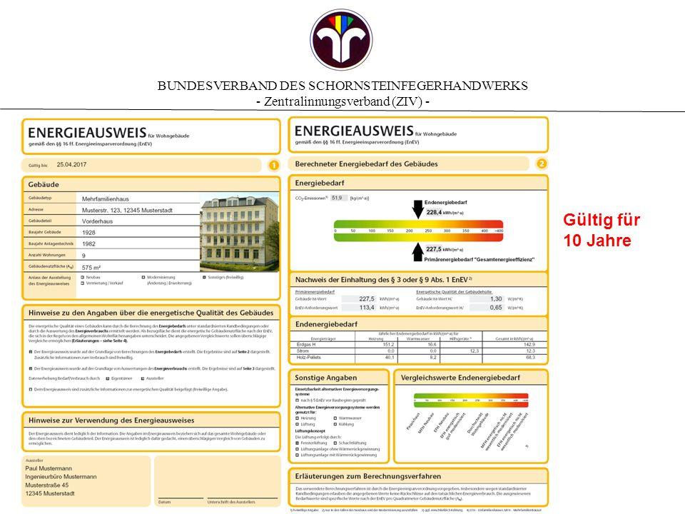 BUNDESVERBAND DES SCHORNSTEINFEGERHANDWERKS - Zentralinnungsverband (ZIV) - Modernisierungsempfehlungen