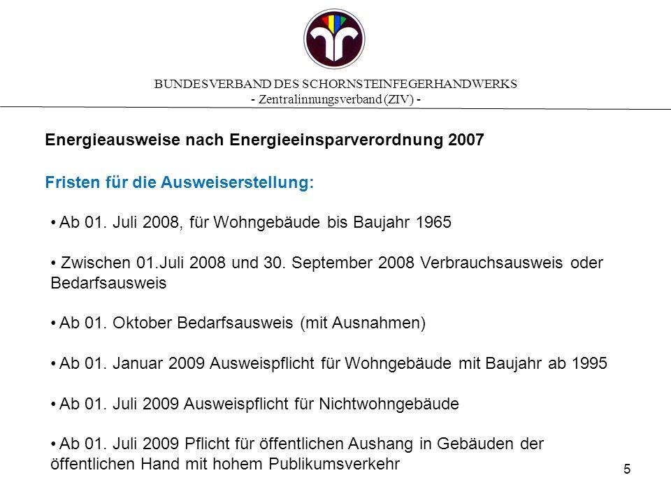 BUNDESVERBAND DES SCHORNSTEINFEGERHANDWERKS - Zentralinnungsverband (ZIV) - Was leisten Energieausweise.