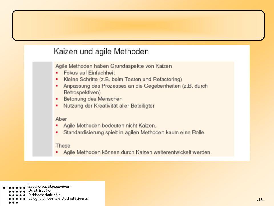 -12- Integriertes Management – Dr. M. Beutner