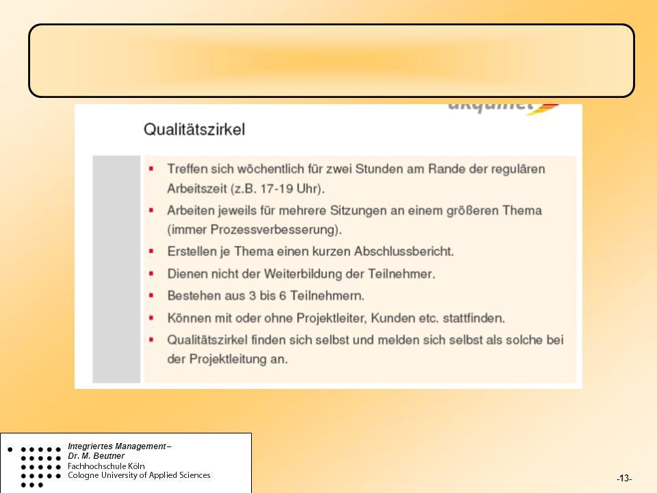 -13- Integriertes Management – Dr. M. Beutner