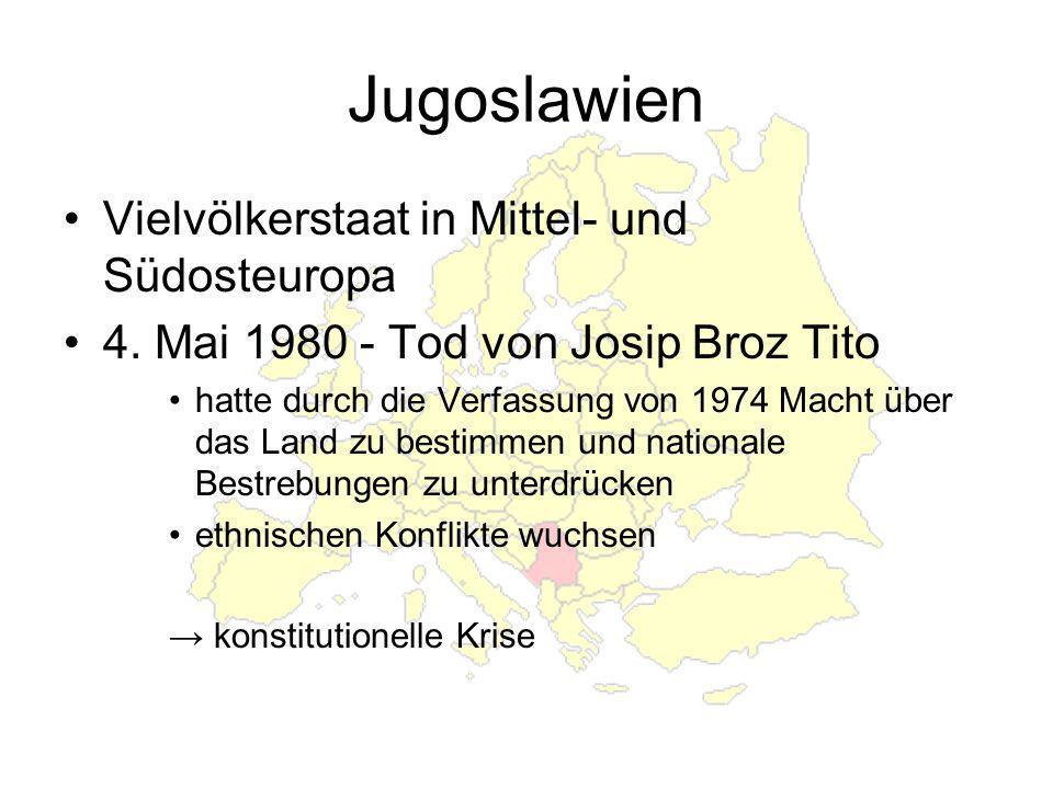 Jugoslawien Vielvölkerstaat in Mittel- und Südosteuropa 4.