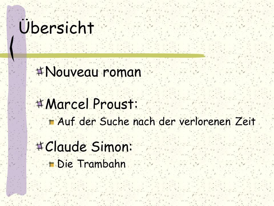 Quellen www.wikipedia.de Proust, Claude Mauriac (rororo, 1997) Proust ABC, Ulrike Sprenger (Reclam 1997)