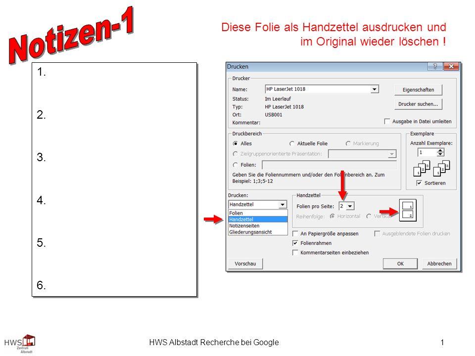 HWS Albstadt Recherche bei Google1 1. 2. 3. 4. 5.
