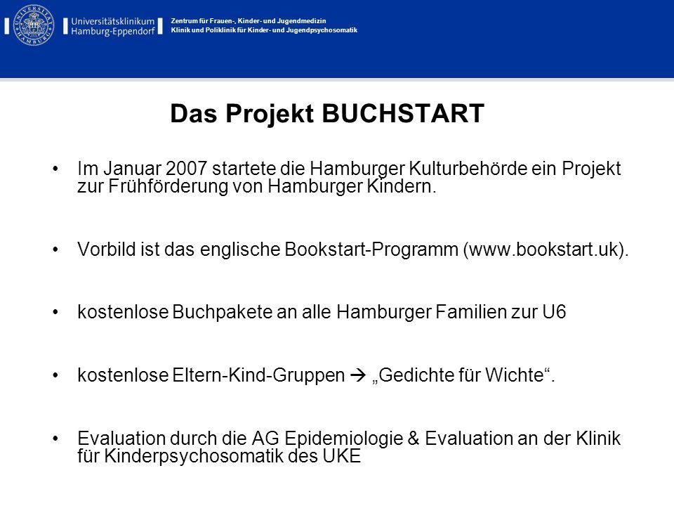 Zentrum für Frauen-, Kinder- und Jugendmedizin Klinik und Poliklinik für Kinder- und Jugendpsychosomatik Das Projekt BUCHSTART Im Januar 2007 startete
