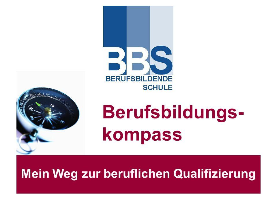 Berufsbildungs- kompass Mein Weg zur beruflichen Qualifizierung