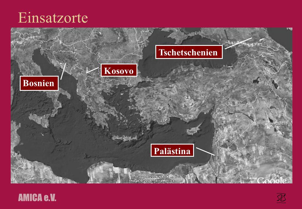 AMICA e.V. Einsatzorte Bosnien Kosovo Palästina Tschetschenien
