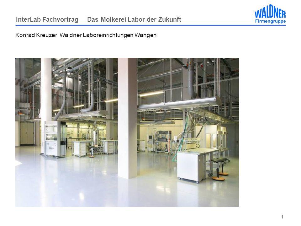 InterLab Fachvortrag Das Molkerei Labor der Zukunft 1 Konrad Kreuzer Waldner Laboreinrichtungen Wangen