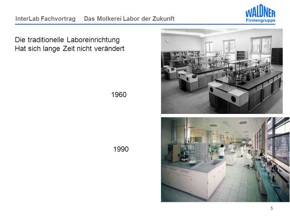 InterLab Fachvortrag Das Molkerei Labor der Zukunft 5 Die traditionelle Laboreinrichtung Hat sich lange Zeit nicht verändert 1960 1990