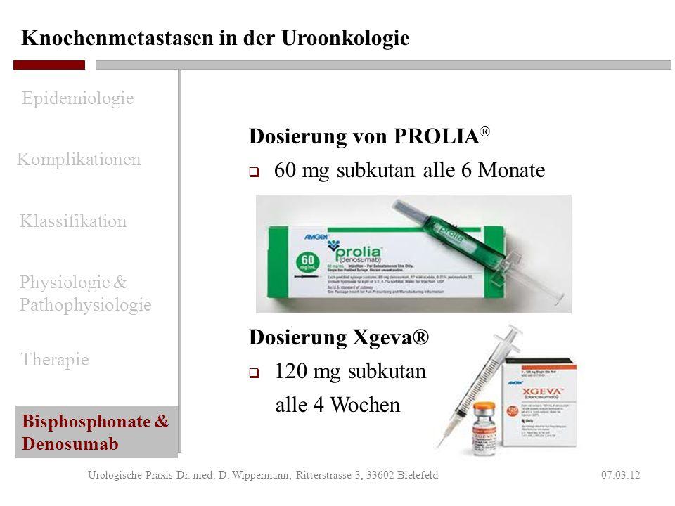 Studie 103 - Zusammenfassung 07.03.12Urologische Praxis Dr. med. D. Wippermann, Ritterstrasse 3, 33602 Bielefeld Überlegenheit Denosumab Überlegenheit