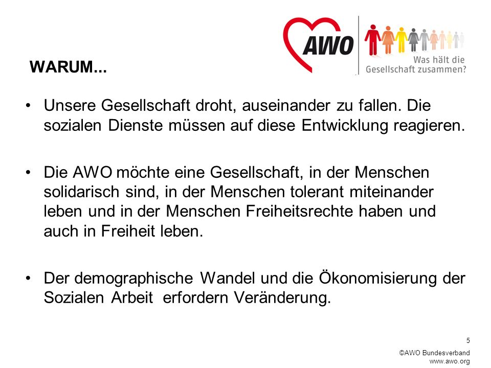 6 ©AWO Bundesverband www.awo.org Was untersucht das Projekt.