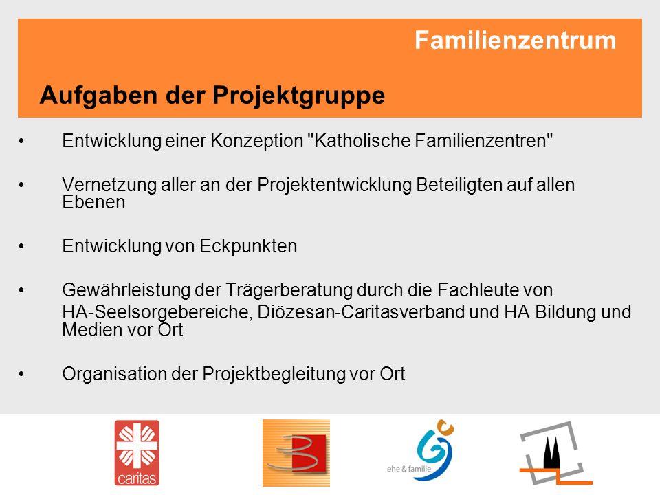 Familienzentrum Aufgaben der Projektgruppe Entwicklung einer Konzeption