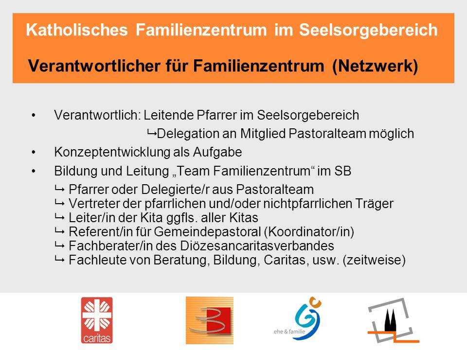 Katholisches Familienzentrum im Seelsorgebereich Verantwortlicher für Familienzentrum (Netzwerk) Verantwortlich: Leitende Pfarrer im Seelsorgebereich