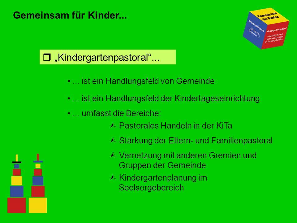 Gemeinsam für Kinder... r Kindergartenpastoral...... ist ein Handlungsfeld von Gemeinde... ist ein Handlungsfeld der Kindertageseinrichtung... umfasst