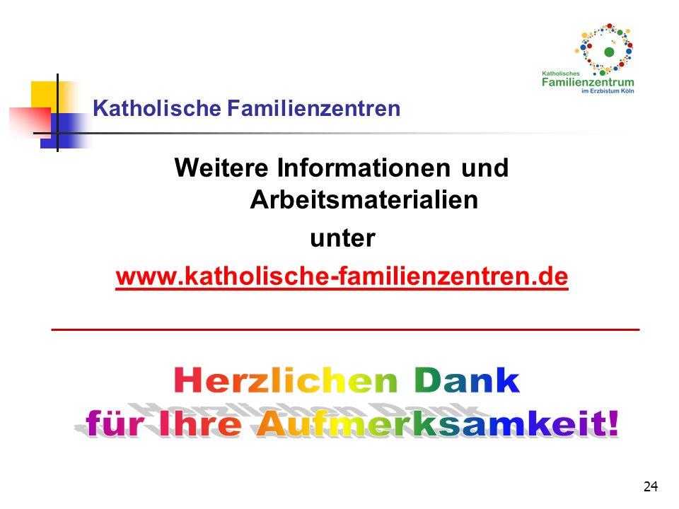 24 Katholische Familienzentren Weitere Informationen und Arbeitsmaterialien unter www.katholische-familienzentren.de